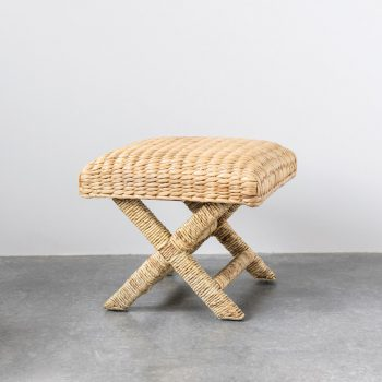 woven water hyacinth natural fiber stool