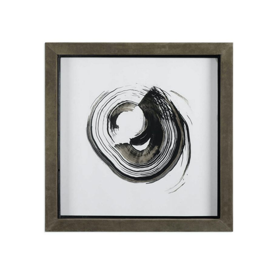 black and gray circle brushstroke art