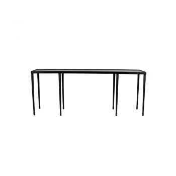 black hammered metal console table