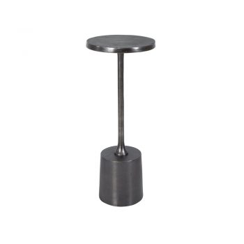 silver nickel textured metal cocktail table