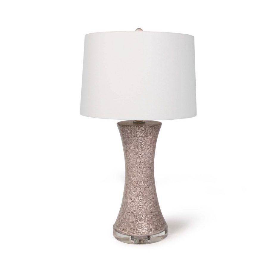 brown shagreen ceramic table lamp