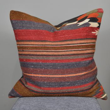 gray red and orange turkish pillow