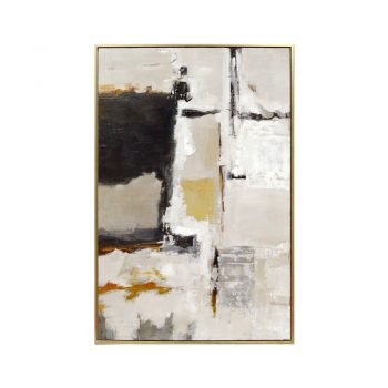hayward black gold white and gray abstract art