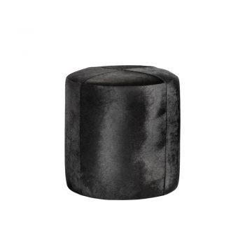 black cowhide ottoman stool