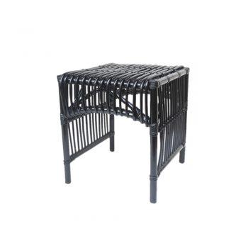 black rattan stool