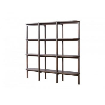 gray washed wood contemporary oblong oval shelf
