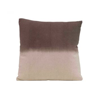 light brown and dark brown split dyed pillow
