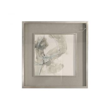 muted neutral warm gray watercolor abstract art