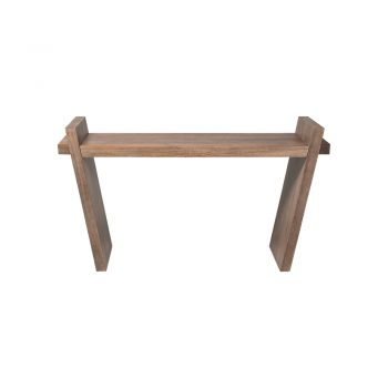 contemporary mango wood console table with angled legs